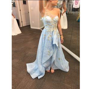 Sherri Hill - Light blue lace